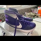 Nike Shoes | Nike Womens Basketball Shoes Purple And White 10 | Color: Purple/White | Size: 10