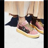 Free People Shoes | Free People Spirit Animal Trainer Sneaker Platform | Color: Tan | Size: 6.5