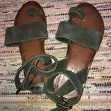 Free People Shoes | Free People Lace Up Sandals | Color: Green | Size: 7