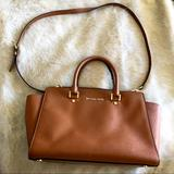 Michael Kors Bags | Michael Kors Large Selma Saffiano Leather Satchel | Color: Brown/Tan | Size: Os
