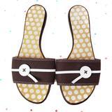 Kate Spade Shoes | Kate Spade Brown Polka Dot Sandal Slides 6.5 | Color: Brown/White | Size: 6.5