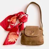Gucci Bags | Gucci Vintage 1970s Gg Tan Suede Leather Handbag | Color: Brown/Tan | Size: Medium
