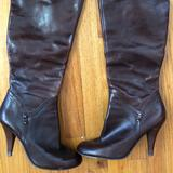 Nine West Shoes | Knee High Brown Boots With Slit In Back | Color: Brown | Size: 8.5