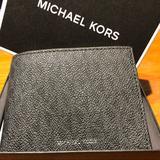 Michael Kors Bags | Michael Kors Slim Leather Bifold Logo Wallet | Color: Red | Size: 4 X 3.5
