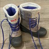 The North Face Shoes   Girls Heat Seeker North Face Snow Boots   Color: Cream/Purple   Size: 1bb