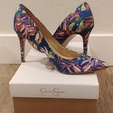 Jessica Simpson Shoes | Jessica Simpson Levin Pump Multicolor | Color: Blue/Pink | Size: 7.5