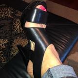 Michael Kors Shoes | Michael Kors Open Toe Black Sandal Heels | Color: Black | Size: 9.5