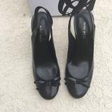 Nine West Shoes   New Nine West Black Leather Sling Back Pumps   Color: Black   Size: 6.5