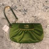 Coach Bags   Coach Satin Wristlet In Green   Color: Green   Size: 9 X 5.5