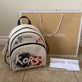 Michael Kors Bags   New Michael Kors Abbey Graffiti Backpack Medium   Color: Black/Cream   Size: Os