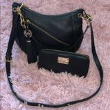Michael Kors Bags | Michael Kors Charm Tassel Convertible Shoulder Bag | Color: Black | Size: Os