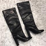 J. Crew Shoes | J Crew Knee High Black Leather Boots Size 6 | Color: Black | Size: 6