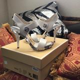 Michael Kors Shoes   Mk Lani Sandal Optic White Gently Worn   Color: White   Size: 5.5