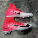 Nike Shoes | Nike Jr Mercurial Superfly Soccer Cleats Mens 4y | Color: Pink/White | Size: 4b