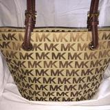 Michael Kors Bags | Michael Kors Jet Set Medium Beigemocha Tote | Color: Brown/Tan | Size: Os