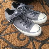 Converse Shoes | Converse Gray Low Top Tennis Shoes Womens Size 5 | Color: Gray | Size: 5