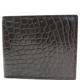 Gucci Bags | Gucci Bi-Fold Crocodile Leather Wallet Black 36548 | Color: Black | Size: Os