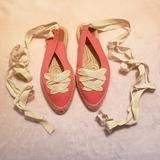 J. Crew Shoes | J.Crew Ankle Wrap Espadrilles | Color: White | Size: 9