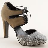 J. Crew Shoes | J.Crew Collection Gibson Lace Up Platform Heel | Color: Black/Cream | Size: 8