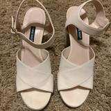 Nine West Shoes | Like New, Classy Cream White Wedge Sandal! | Color: Cream | Size: 9.5