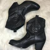 Nine West Shoes | Nine West Cutout Cowboy Heeled Boot | Color: Gray | Size: 8.5