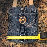 Michael Kors Bags   Michael Kors Blue Snake Print Crossbody Bag Euc   Color: Blue/Gold   Size: Os