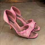 Louis Vuitton Shoes   Louis Vuitton Pink Satin+Lizard Dorsay Pump 38.5   Color: Pink/Purple   Size: 8.5