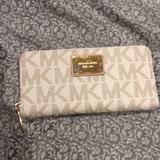 Michael Kors Bags   Michael Kors Jetset Vanilla Travel Wallet   Color: Cream/Gold   Size: Os