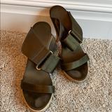 Michael Kors Shoes   Michael Kors Green Silk Mules Sz 5.5   Color: Green   Size: 5.5
