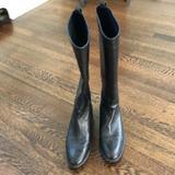 J. Crew Shoes | J.Crew Black Leather Boots | Color: Black | Size: 9.5