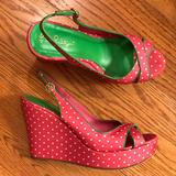 Lilly Pulitzer Shoes | Euc Lilly Pulitzer Wedge, Pink | Color: Green/Pink | Size: 9