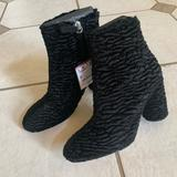 Zara Shoes   Nwt Zara Black Faux Fur High Heel Ankle Boots   Color: Black   Size: Various