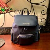 Michael Kors Bags   Michael Kors Abbey Large Logo Cargo Backpack   Color: Blue/Gold   Size: Os