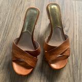 Michael Kors Shoes   Michael Kors Kitten Heel Shoe   Color: Cream/Orange   Size: 5.5
