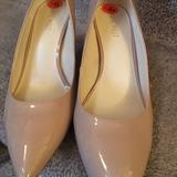 Nine West Shoes | Nine West Patent Leather Pumps | Color: Cream | Size: 9.5