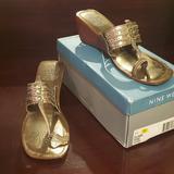 Nine West Shoes | Nine West Wedge Sandal | Color: Gold/Green | Size: 11