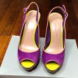 Jessica Simpson Shoes   Jessica Simpson Platform Color Block Peep Toe Heel   Color: Purple/Yellow   Size: 7