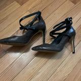 Michael Kors Shoes | Michael Kors Snakeskin Ankle Tie Pump | Color: Brown | Size: 7