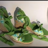 Lilly Pulitzer Shoes   Lilly Pulitzer Tulip Wedge Espadrilles Nwot   Color: Blue/Green   Size: 8.5