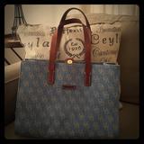 Dooney & Bourke Bags | Dooney & Burke Denim And Leather Computer Bag | Color: Blue | Size: Os