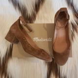 Madewell Shoes   Madewell Inez Ankle-Strap Suede Shoes W Studs   Color: Brown   Size: 8.5