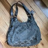 Coach Bags   Coach Madison Maggie Hand Bag (Silver)   Color: Gray   Size: Os