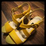 Nine West Shoes   New Nine West Mustard Yellow Wedges Platforms   Color: Yellow   Size: 7