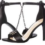 Nine West Shoes   Nine West Women'S Mimosina Satin Sandal   Color: Black   Size: 9.5