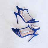 Polo By Ralph Lauren Shoes | Polo Ralph Lauren Royal Blue Suede T-Strap Sandal | Color: Blue | Size: 7.5