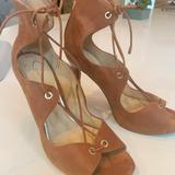 Jessica Simpson Shoes | Jessica Simpson 'Baylinn' Lace Up Pumps | Color: Tan | Size: 8.5