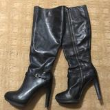Nine West Shoes | Nine West 19 Tall Boots - Full Zip | Color: Black | Size: 6.5