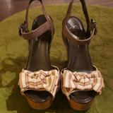 Jessica Simpson Shoes | Jessica Simpson Platform Sandal | Color: Brown/Tan | Size: 9