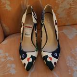Nine West Shoes | Multi Color Pumps | Color: Blue/White | Size: 9.5
