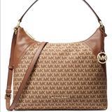 Michael Kors Bags | Firmmichael Kors Jacquard Signature Bag | Color: Brown/Tan | Size: Os